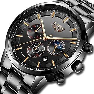 Uhren-fr-Mnner-Herren-Edelstahl-Uhren-Herren-Chronograph-Wasserdicht-Sport-Armbanduhr-Datum-Quarz-Armbanduhr-Klassisches-Zifferblatt