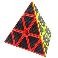 Zauberwrfel-Pyramid-Pyraminx-Coolzon-Speed-Cube-Wrfel-Carbon-Faser-Aufkleber-Neue-Geschwindigkeits-Super-Schnell-und-Glatt