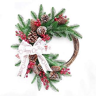 ZXPAG-Weihnachtskranz-Dekokranz-Wandkranz-Krnze-Trkranz-Adventskranz-Ribbon-Cherry-fr-Deko-Weihnachten-Advent-Trkranz