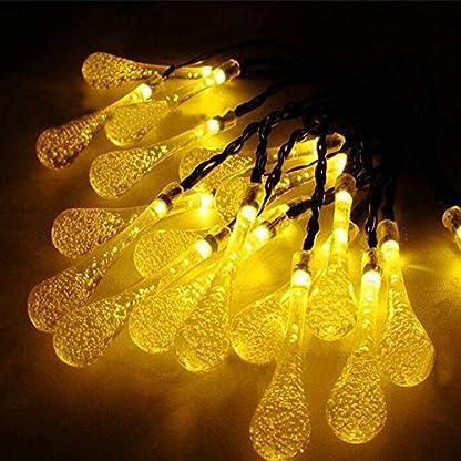 Caroki-Solar-Lichterkette-Auen-mit-7m-50-LED-Wassertropfen-Kugel-8-Modi-Wasserdicht-IP65-mit-Lichtsensor-Beleuchtung-Deko-fr-Garten-Terrasse-Hof-Weihnachten-Hochzeit-Party-Fest