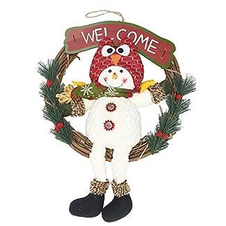 ZXPAG-Weihnachtskranz-Trkranz-Hlzerne-Rattan-Schneemann-Puppe-fr-drinnen-und-drauen-DIY-zum-Aufhngen-an-Tren-Wnden-Treppen-Hochzeitsdekoration