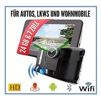 Elebest-178cm-7-Zoll-NavigationsgertNavigationFr-WohnmobilLKWPKW-24GB-SpeicherBluetooth-DVR-KameraTMCWiFiRadarwarnerlebenslang-kostenlose-Karten-Update