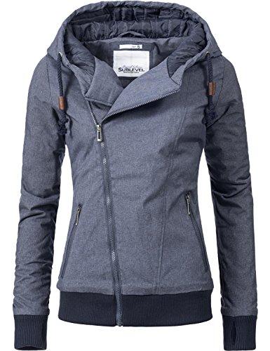 Sublevel Damen Jacke Übergangsjacke Kapuzenjacke 44308 2 Farben XS-XL