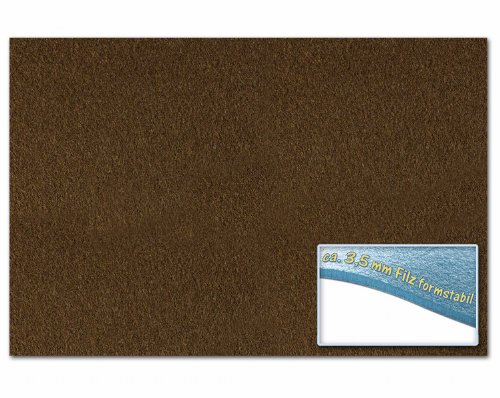 folia 510385 – Bastelfilz 30 x 45 cm, ca. 3,5 mm, 1 Bogen, schokobraun