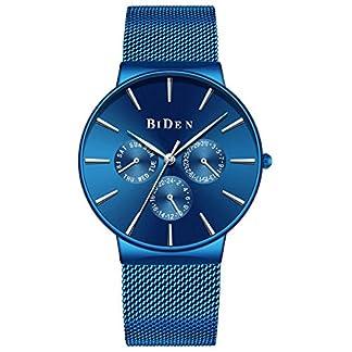 Uhr-Herren-Quarzuhren-Leichte-Schlanke-Super-dnne-Mann-Armbanduhr-mit-Kalender-fr-Mnner-Jungen