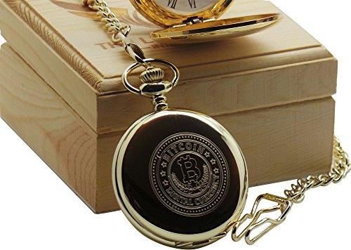 Bitcoin-Taschenuhr-24-K-Gold-Beschichtet-Luxus-Geschenk-in-Holz-Geschenk-fr-Buchhalter-Gott-Edelstahldraht-Hndler-Internet-Traders