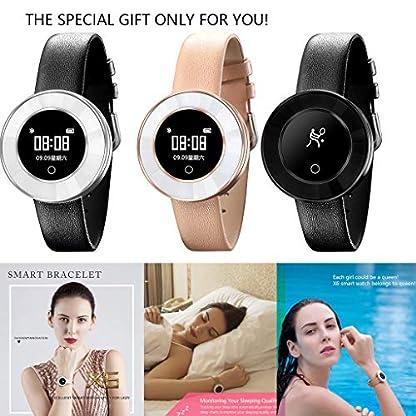 Hukz-X6-BlutdruckBlutsauerstoffsttigungPulsmesser-Mdchen-Smart-Armbanduhr-X6-Smart-Armband-Lederband