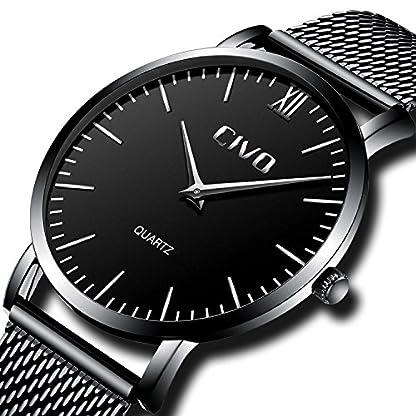 CIVO-Armbanduhr-Herren-Ultra-Dnne-Minimalistische-Wasserdicht-Mnner-Uhren-Elegant-Luxus-Geschfts-Beilufig-Herrenuhr-mit-Schwarzes-Milanese-Mesh-Uhrenarmband-Analog-Quarz-Uhren