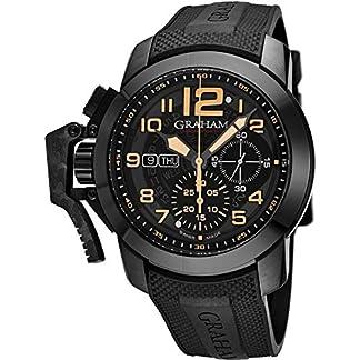 Graham-Herren-Armbanduhr-47mm-Armband-Kautschuk-Automatik-2CCAUB32AK92B