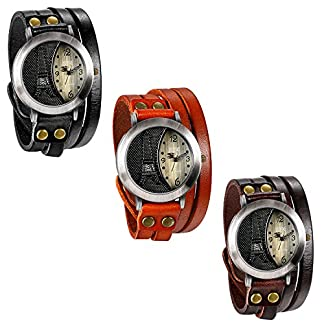 JewelryWe-Herren-Damen-Armbanduhr-Leder-Armband-Wickelarmband-Retro-Eiffelturm-Design-mit-Strass-Analog-Quarz-Uhr-einfaches-Digital-Zifferblatt-3-Farben
