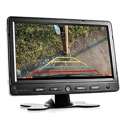 Carmedien-Rckfahrsystem-fr-Wohnmobil-Rckfahrkamera-System-Reisemobil-mit-7-Monitor-Farbkamera-IR-Nachtsicht