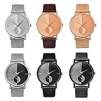 Godagoda-Unisex-Armbanduhr-Edelstahl-Mesh-Band-Einfarbig-Dekoriert-Frauen-Herren-Studenten-Wasserdicht-Quarzuhr