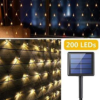 Solar-LED-Lichternetz-200-LEDs-Sterne-Lichterkette-3M2M-Outdoor-Wasserfest-Lichtervorhang-8-Modi-Aut-EinAus-Deko-Leuchte-fr-Weihnachten-Innen-Auen-Garten-Party-Hochzeit-Schlafzimmer-Warmwei