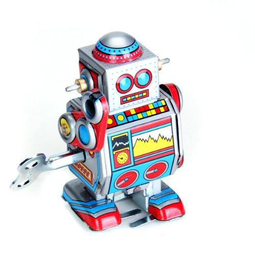 Sharplace-2X-Mini-Multi-Color-Wind-up-Roboter-Spielzeug-fr-Erwachsene-Sammler-Kinder-Lernspielzeug