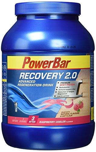 PowerBar Regeneration Drink mit Whey & Kohlenhydrate – Protein-Pulver mit Hafermehl, Vitamine, Zink und Magnesium – 1,144kg Raspberry Cooler