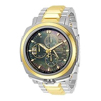 Invicta-Herren-Analog-Quarz-Uhr-mit-Edelstahl-Armband-30837