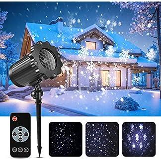 Led-projektor-weihnachten-GreenClick-LED-Schneeflocke-Projektor-lichter-Auen-mit-Timing-Fernbedienung-und-Schneefall-wasserdichter-fr-outdoor-und-Innen-Deko
