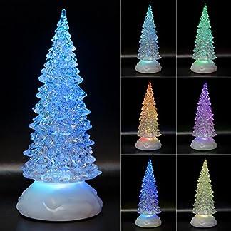 LED-Christbaum-Weihnachtsbaum-Tannenbaum-Beleuchteter-Acrylbaum-22cm-7-Wechselfarben-USB-Timer