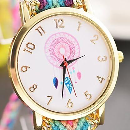 Souarts-Damen-Armbanduhr-Traumfnger-Muster-Deko-Uhr-mit-Batterie-Charm-Geschenk-Vergoldet-Muster
