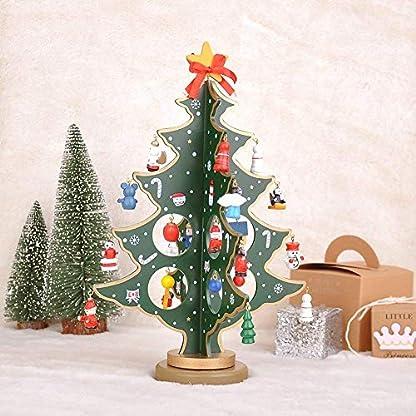 Weihnachtsbaum-knstlich-Holz-mit-Anhnger-Kunst-Baum-klein-Tisch-Deko-Weihnachten-30-cm-Hoch