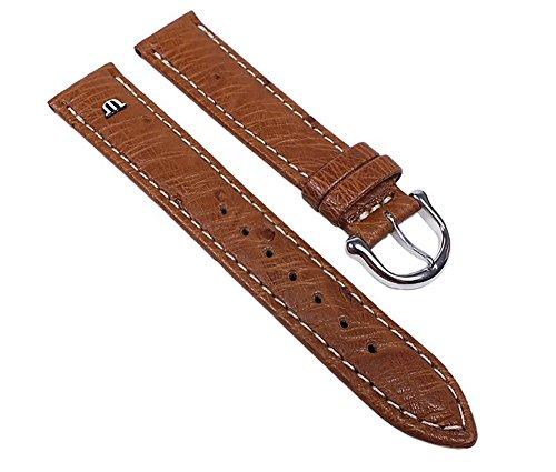 Maurice-Lacroix-Ersatzband-Uhrenarmband-Strauenleder-Band-Hellbraun-22625S-Stegbreite15mm