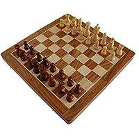 StonKraft-handgefertigtes-hochwertiges-Holz-Schachspiel-36-x-36-cm–magnetische-Schachkassette-aus-Rosenholz