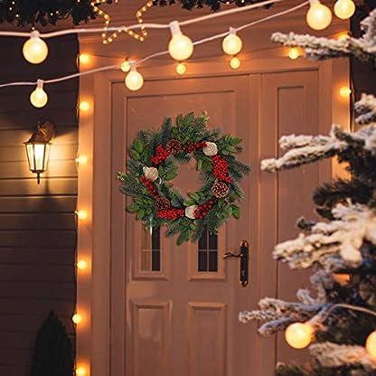 18-Zoll-Kiefern-knstlicher-Weihnachtskranz-Weihnachtsfeiertags-Ausgangsdekor-Weihnachts-Und-Winter-Kranz-Mit-Kegeln-Roten-Beeren-Und-Leinwand-Ball-Fr-Haustr