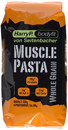 HarryP Bodyfit Muscle Pasta / Eiweiß Nudeln Whole Grain Edition, 2er Pack (2 x 330 g)