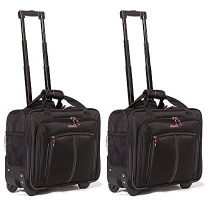 Aerolite-17-Rollkoffer-Laptoptrolley-Business-Tasche-Laptop-Tasche-bis-173-Zugelassen-fr-Ryanair-Easyjet-BA-Jet2-Schwarz