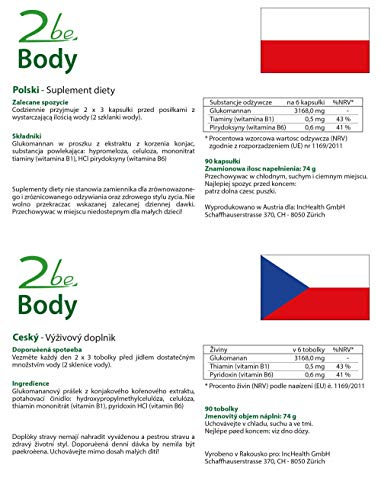 2be Body + Energie-Stoffwechsel + Gewichtsverlust = 90 Vegane Kapseln