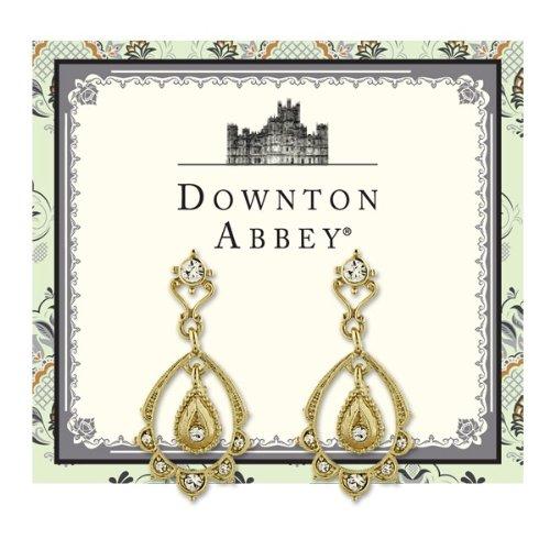 Downton Abbey Damen-Ohrringe Kristall Klar 3.81 cm – 17605