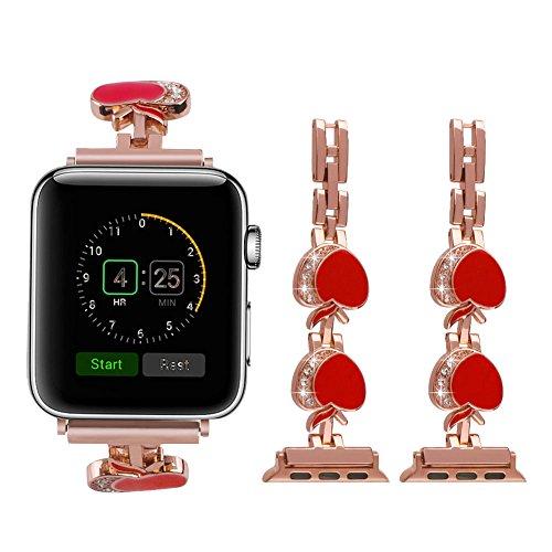 Apple-Watch-Armband-42-mmUrhenarmband-Apple-Watch-Series-3-Armband-Damen-Sliber-Schwarz-Smart-Watch-Band-Ersatz-band-Schlaufe-Edelstahl-Armbnder-iWatch-42mm-mit-Metallschliee-Aktivittstracker-Zubehr-f