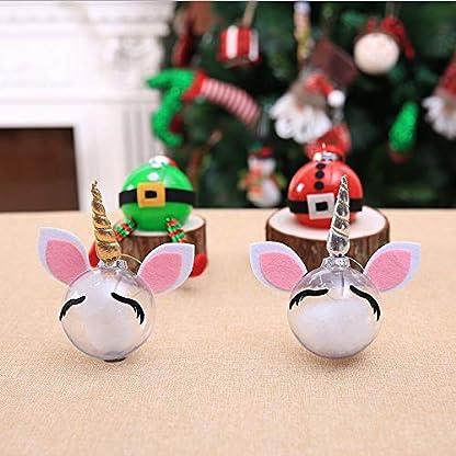 Panamami-Weihnachtsdekorationen-kreative-DIY-transparente-Kugel-Einhorn-Sankt-Elf-Cartoon-Weihnachtskugel-Dekorative