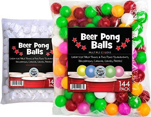 Bier-Pong-Blle-144-Stck-38-mm-ideal-fr-Tisch-Tennis-Tischtennis-Turnieren-Karneval-Spiele-Partys-von-Sportiv