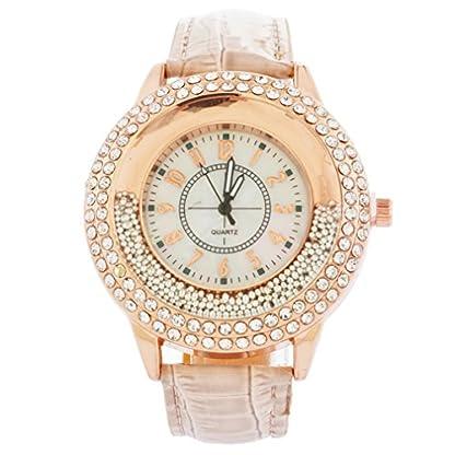 Souarts-Damen-Braun-Treibsand-Armbanduhr-Quartzuhr-Sommer-Uhr-Quartzuhr-Analog-mit-Batterie
