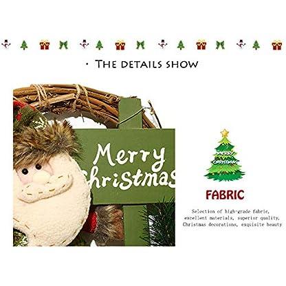 BIGBOBA-Weihnachtskranz-Trschmuck-Wandkranz-Weihnachtskranz-Weihnachten-Kranz-Adventskranz-33cm