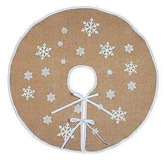 ZHAOYANG-Weihnachtsbaum-Rock-Weihnachtsbaumdecke-Rund-Weihnachtsbaum-Decke-Gro-Fell-Christbaumdecke-Christbaumstnder-Teppich-Baumdecke-Weihnachtsbaum-Deko48-Zoll-Beige