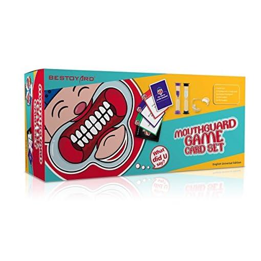 Watch-Your-Mouth-BESTOYARD-Mundspreizer-Partyspiel-Familienausgabe-Enthlt-6-Mundstcke-177-Sprche-Karten-Sanduhren-und-Spielregeln
