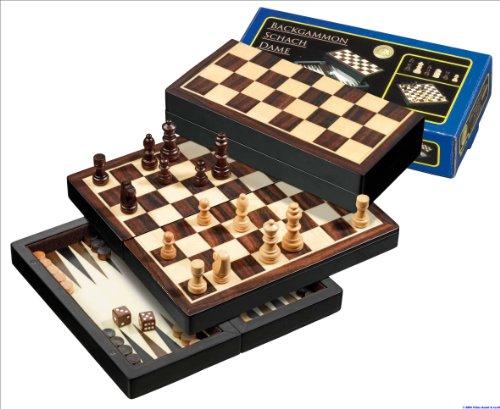 Philos-2507-Reise-Schach-Backgammon-Dame-Set-Feld-22-mm-Knigshhe-42-mm-magnetisch