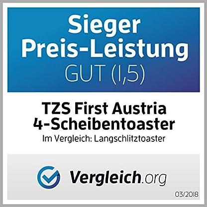 TZS-First-Austria-gebrsteter-Edelstahl-4-Scheiben-Toaster-1500W-mit-Krmelschublade-Sandwich-Langschlitz-abnehmbarer-Brtchenaufsatz-wrmeisoliertes-Gehuse-stufenlose-Temperatureinstellung