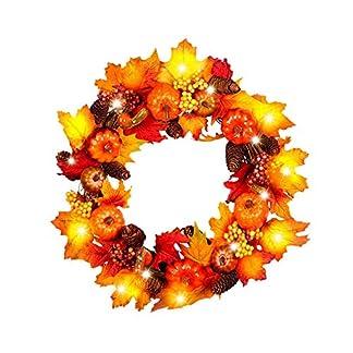 Weihnachtskranz-mit-LED-Girlande-DIY-Herbstkranz-Ahornblatt-Krbis-Rattan-Weihnachtsdeko-Adventskranz-Knstlich-Strohblumen-Trkranz-fr-Weihnachten-Party-45cm60cm