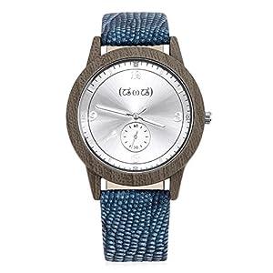 Smileyes-Damenuhr-Leder-Armband-Kupfer-Armbanduhr-Quarz-Analog-Uhr