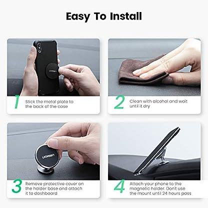 UGREEN-Autohalterung-Handy-Halterung-Magnet-360-Armaturenbrett-Auto-Halterung-KFZ-Halter-Untersttzt-fr-iPhone-11-Pro-Max-iPhone-XR-Samsung-Galaxy-S10-usw-4-7-Zoll-Handy