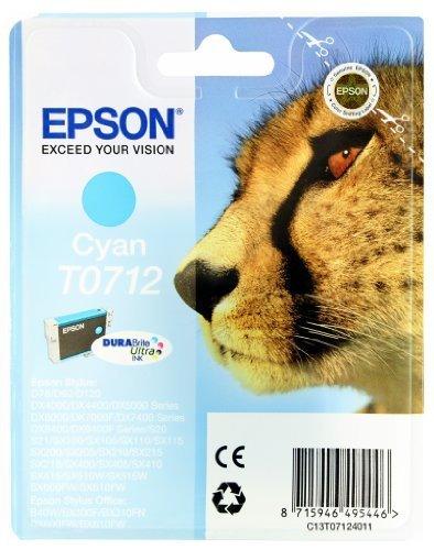 Epson-T0715-Tinte-Gepard-wisch-und-wasserfeste-Multipack-4-farbig-CYMK