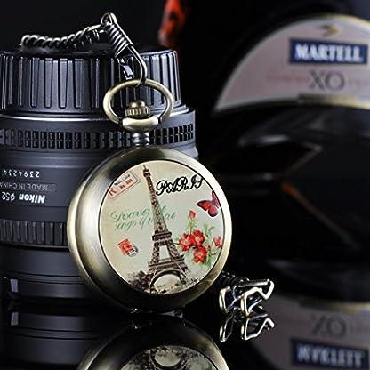 Unendlich-U-Romantisch-Paris-Eiffelturm-Foto-Medaillon-Handaufzug-Mechanische-Taschenuhr-Weies-Zifferblatt-Skelettuhr-Pullover-Halskette-beide-Ketten