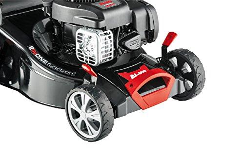 AL-KO-Benzin-Rasenmher-Classic-425-P-B-42-cm-Schnittbreite-18-kW-Motorleistung-fr-Rasenflchen-bis-800-m-Schnitthhe-7-fach-verstellbar-robustes-Stahlblechgehuse-inkl-65-l-Fangkorb-mit-Fllstandsanzeige