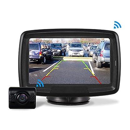AUTO-VOX-Rckfahrkamera-Drahtlos-Set-mit-43-Zoll11-cm-LCD-Monitor-Wireless-Einparkhilfe-12V-24V-mit-IP68-Wasserdichte-Digital-Rckfahrkamera-mit-Gute-Nachtsicht-TD2