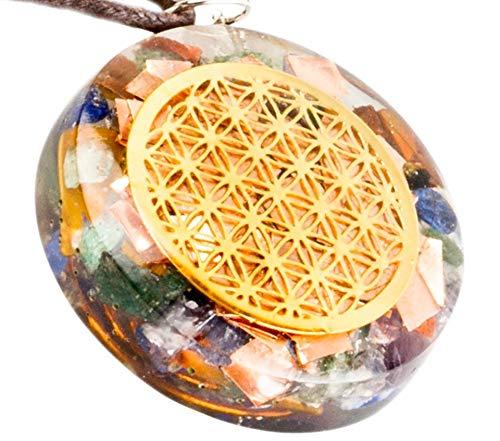 QUANTHOR EMF Energetische Anhänger Strahlung Schutz Orgonite Generator Kristall Halskette Energie