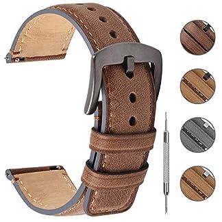 Fullmosa-3-Farben-Poliertes-Uhrenarmband-182022mm-Lederarmband-YOLA-mit-D-Form-Schnalle-fr-Damen-und-Herren