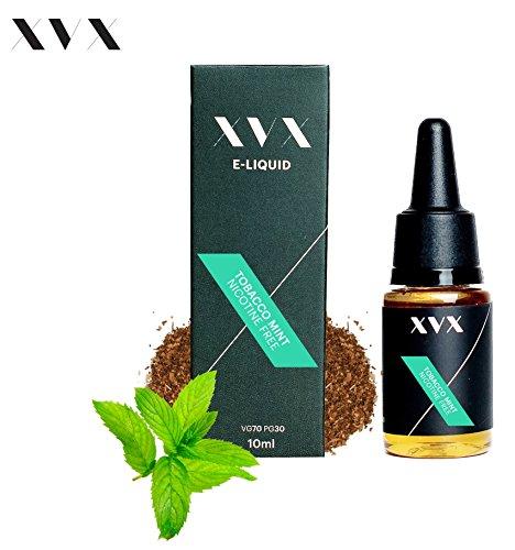 XVX E-Liquid  Tabak-Minze Geschmack  Elektronisches Liquid Für E-Zigarette  Elektronische Shisha Liquid  10ml Flasche  Nadelspitze  Präzise Befllung  Wähle Deinen Lifestyle  Neu Für 2016  Digitaler Rauch  Nikotinfrei  Tabakfrei